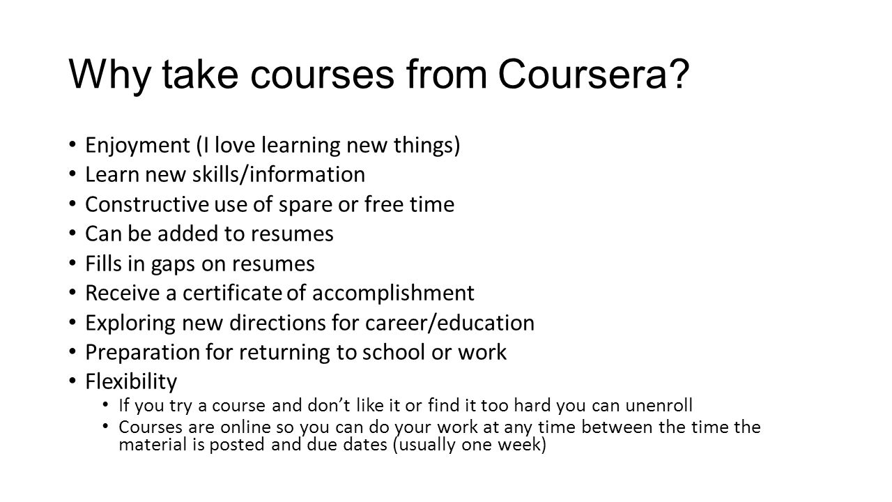 Coursera org Orientation/Tutorial Free Online Courses from