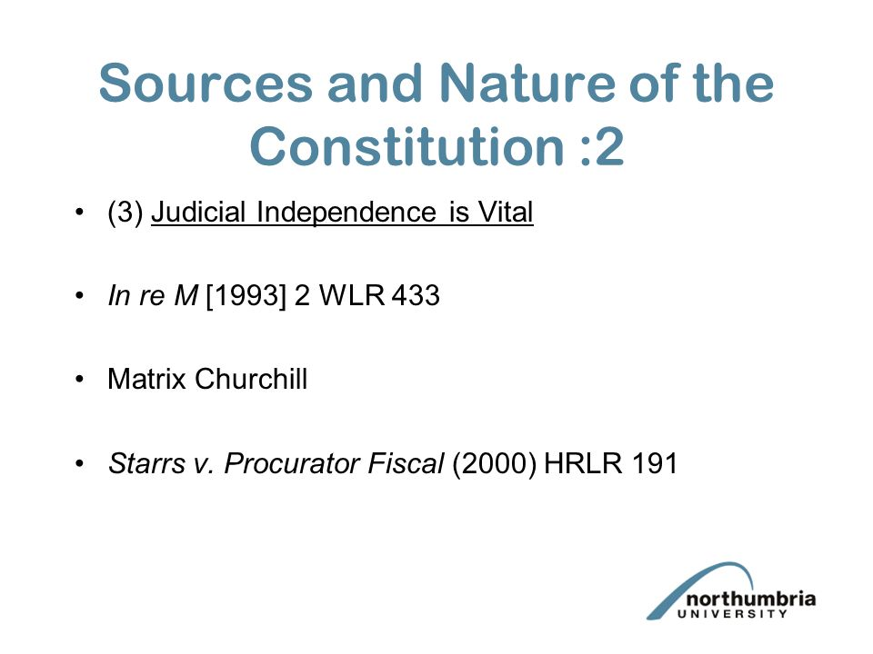 Sources And Nature Of The Constitution 2 The Rule Of Law Historical