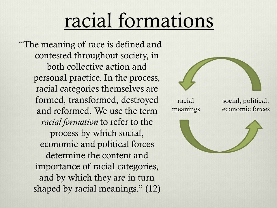 racial formation definition