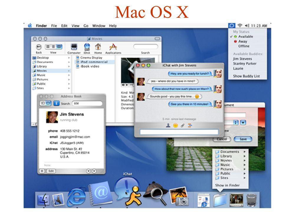Unix GUI Guntis Barzdins Girts Folkmanis  Exception: MacOS X uses a