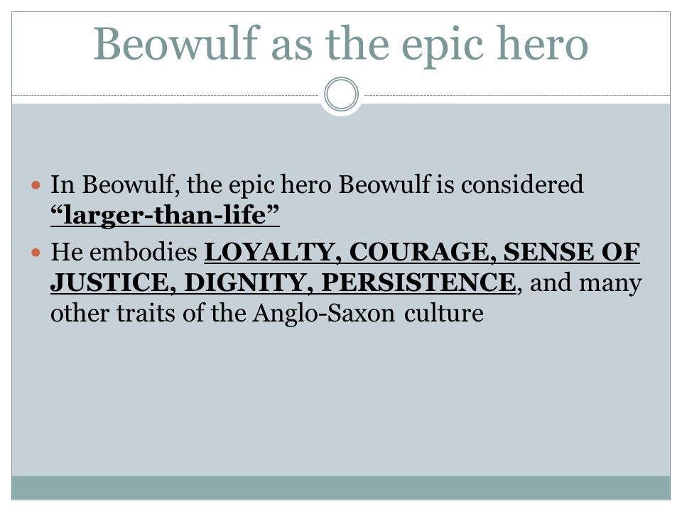 epic hero traits