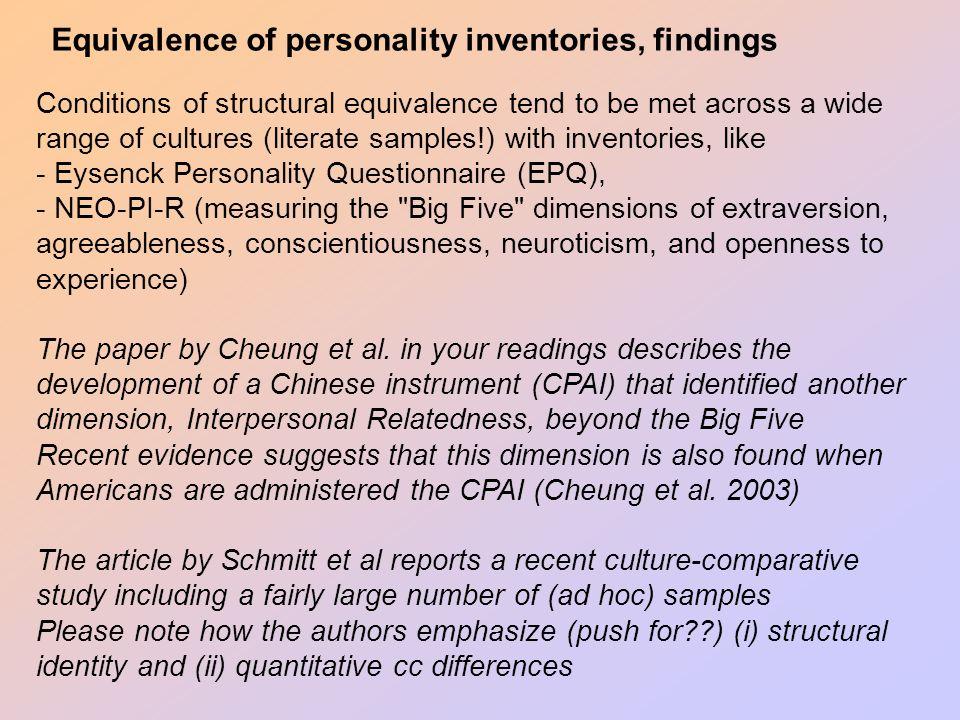 Personality across cultures Ype H  Poortinga (Prof Em) Tilburg