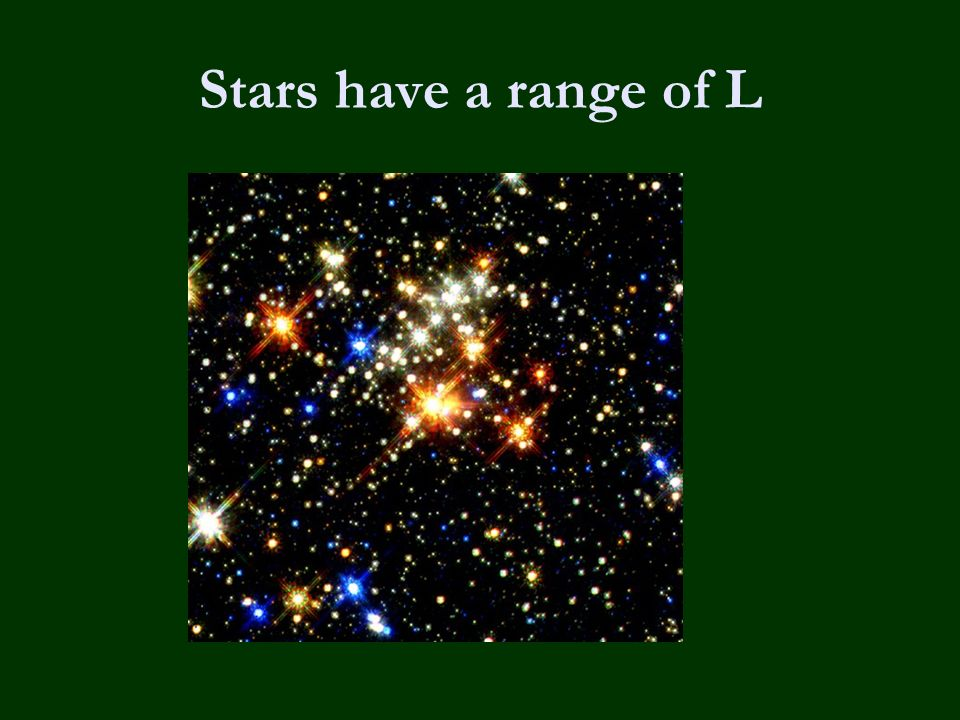 Stars have a range of L
