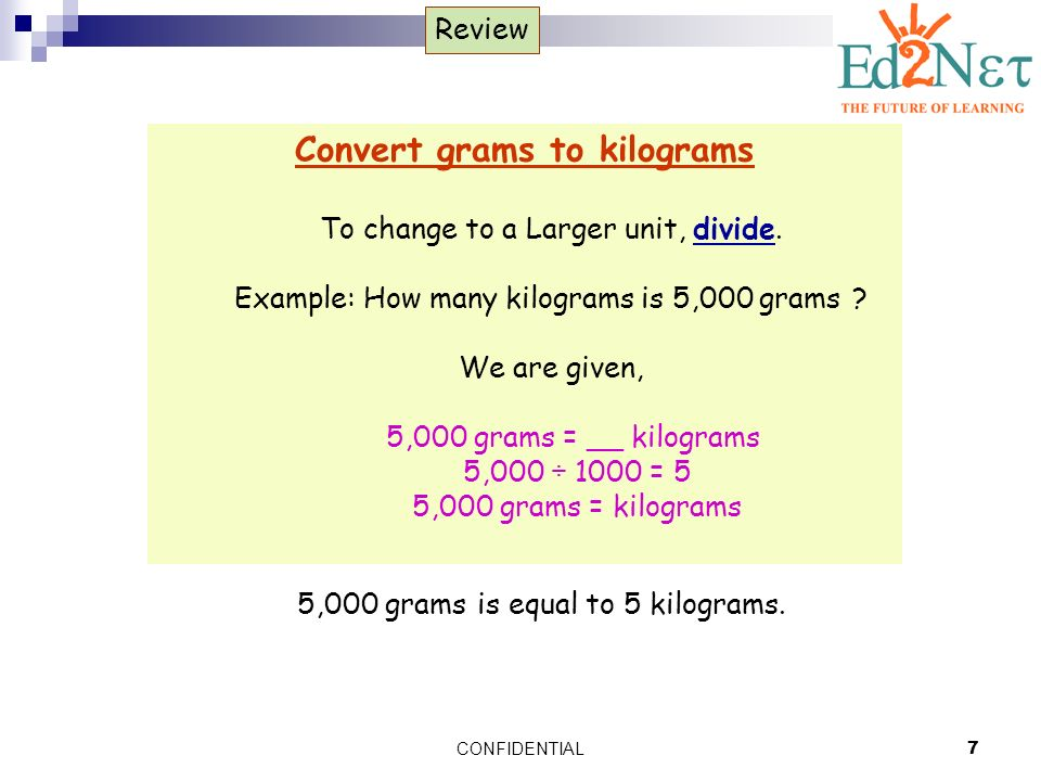 Confidential7 Review Convert Grams To Kilograms Change A Larger Unit Divide