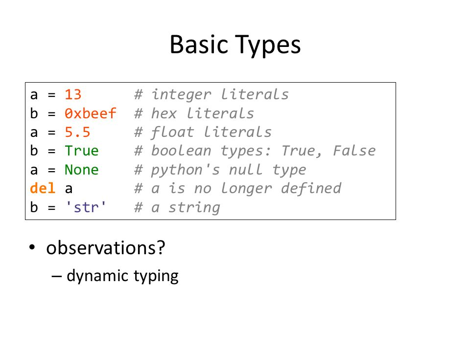 An Introduction  What is Python? Interpreted language Created by