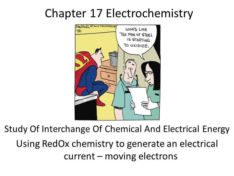 Chapter 17 Electrochemistry Study Of Interchange Of Chemical