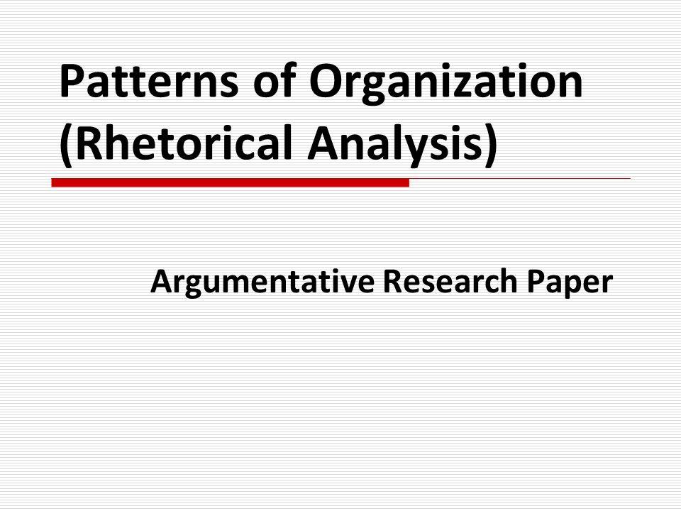 an argumentative research paper