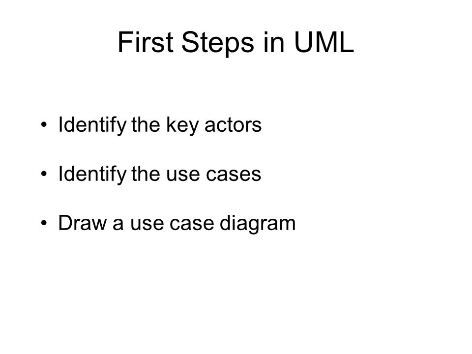 Uml use case models and modular programming session 3 lbsc 790 9 first steps in uml identify the key actors identify the use cases draw a use case diagram ccuart Image collections