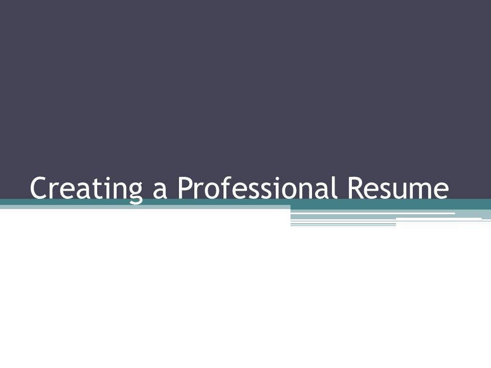 creating a professional resume what is a resume 1 page summary of
