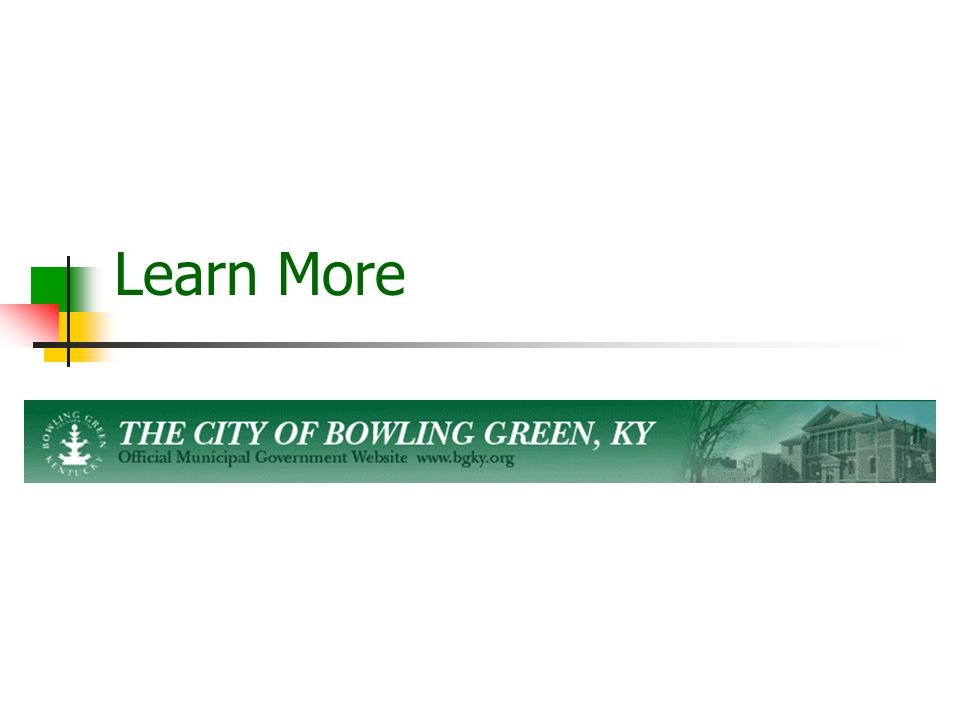 City of Bowling Green City Government  Bowling Green  - ppt download