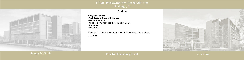 UPMC Passavant Pavilion & Addition Pittsburgh, Pa Jeremy