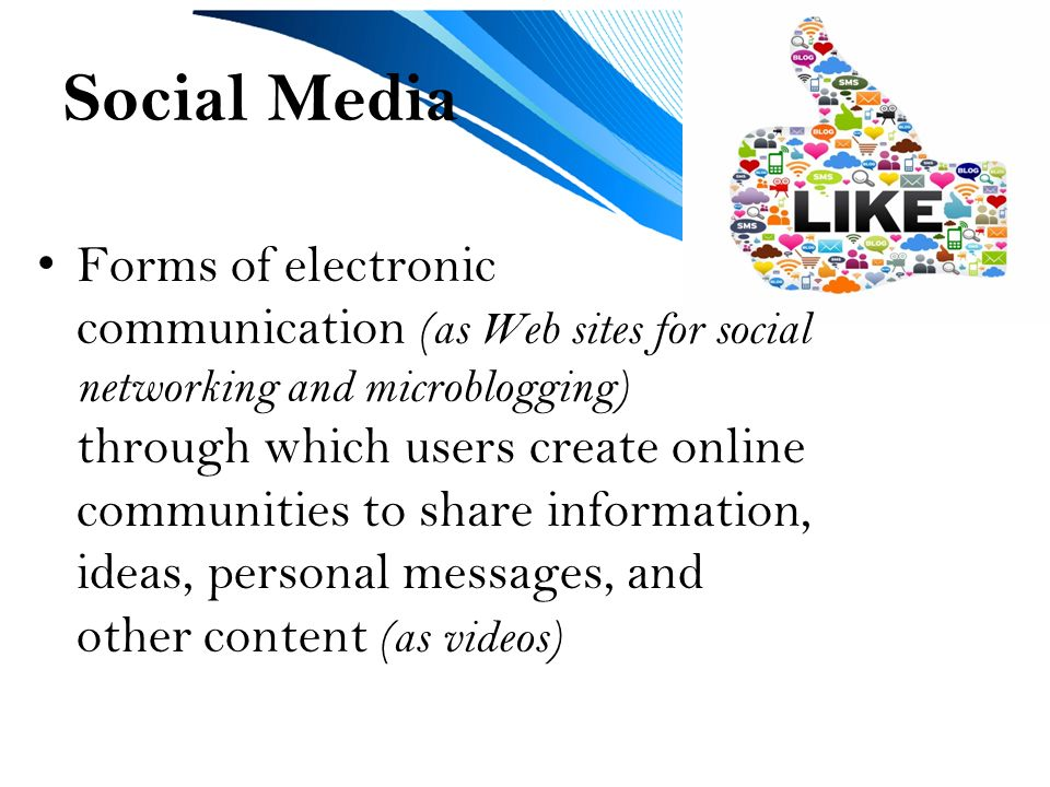 Technology Social Media Unit 1. What is Social Media? Social media on fashion forms, health forms, cloud forms, writing forms, google forms, database forms, family forms, social history forms, art forms,