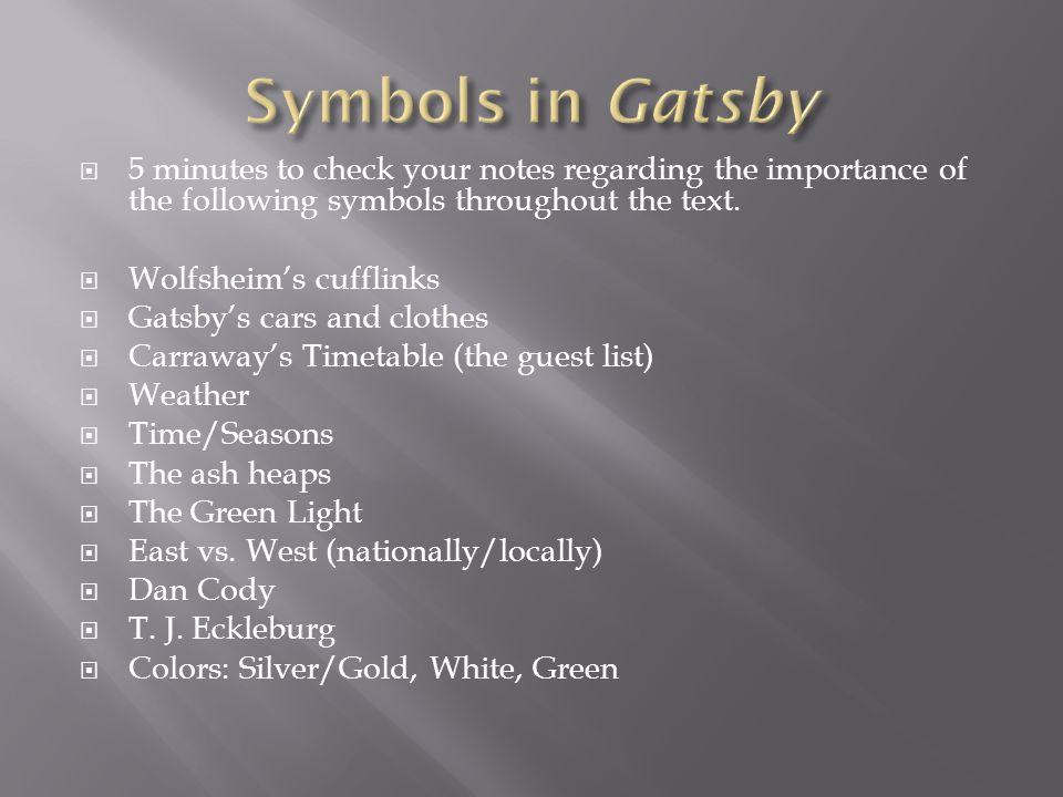 gatsbys clothes symbolism