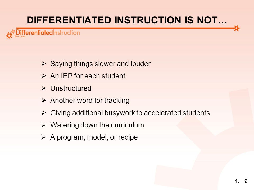 11 Welcome To Differentiated Instruction Theory Into Practice