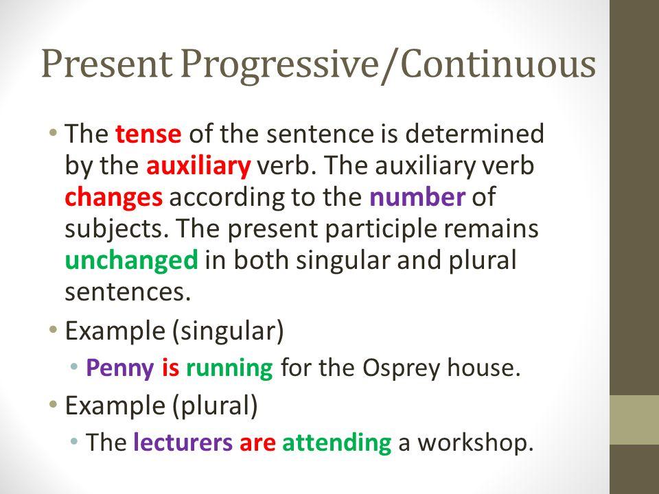 Present Tense Simple Present Present Progressivecontinuous Ppt