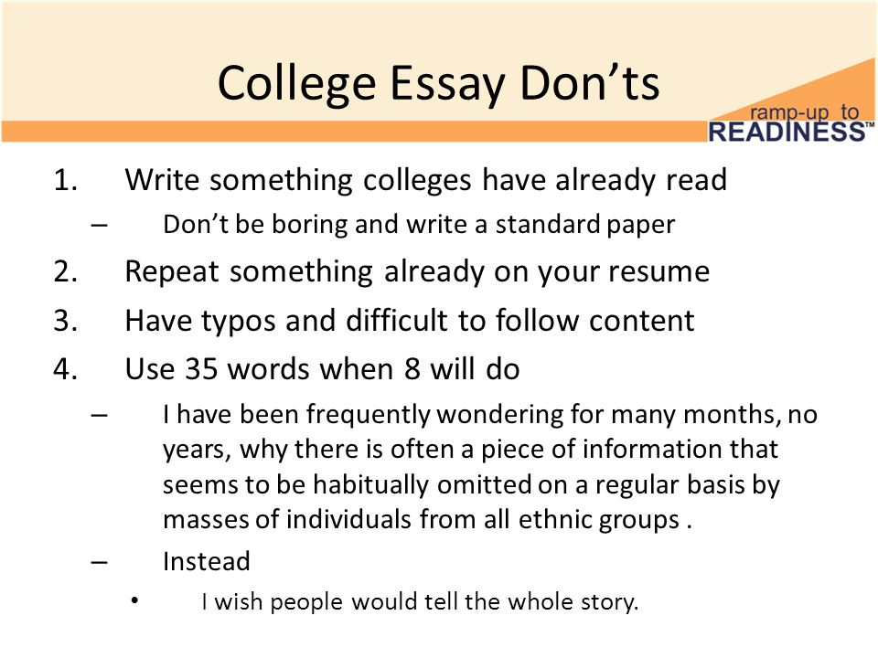 how to write a college essay if you re boring