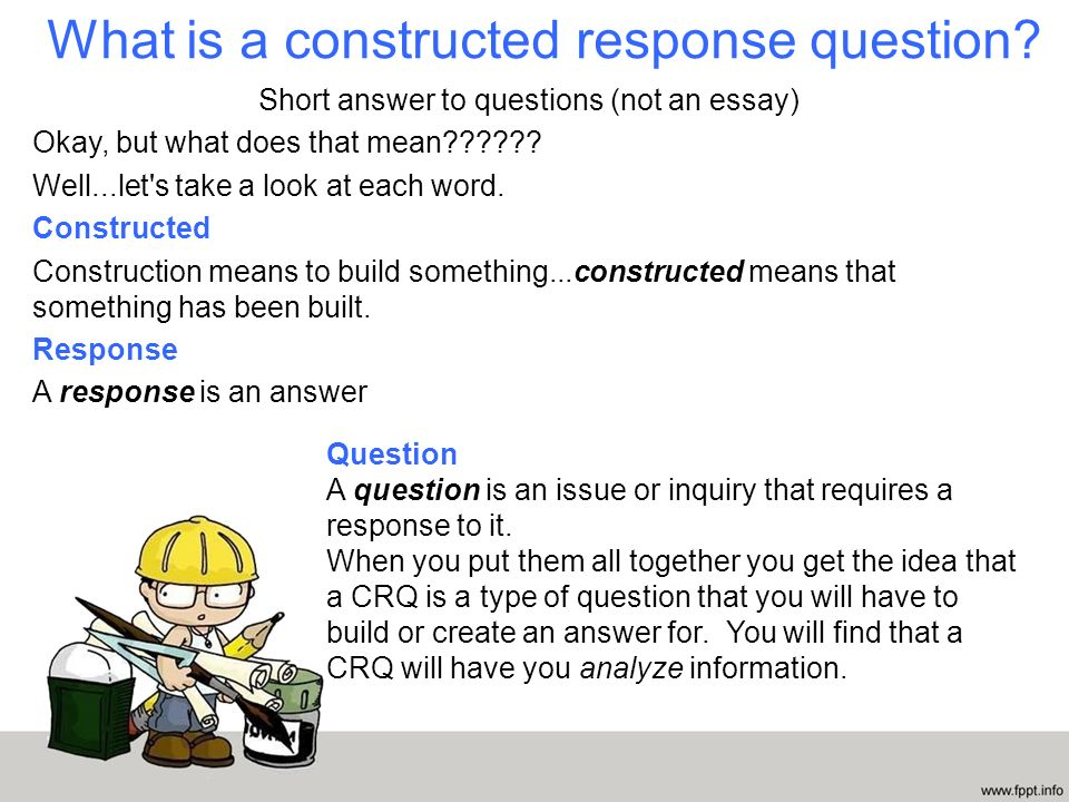 Constructed Response Answer And Back It Up Mary Wilson