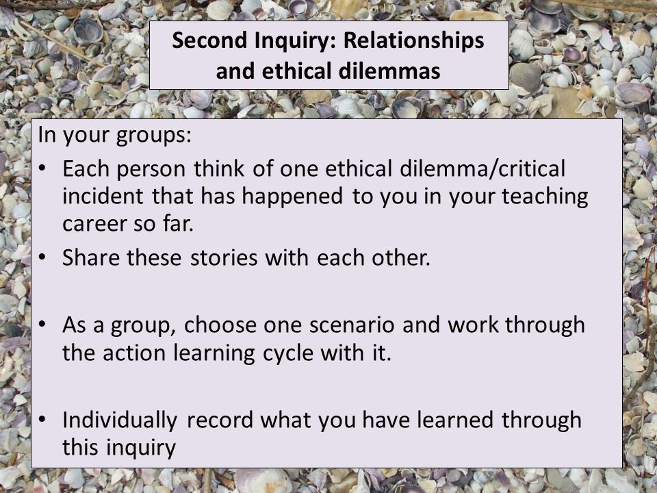 To explore through experience, the process of inquiry and how we can
