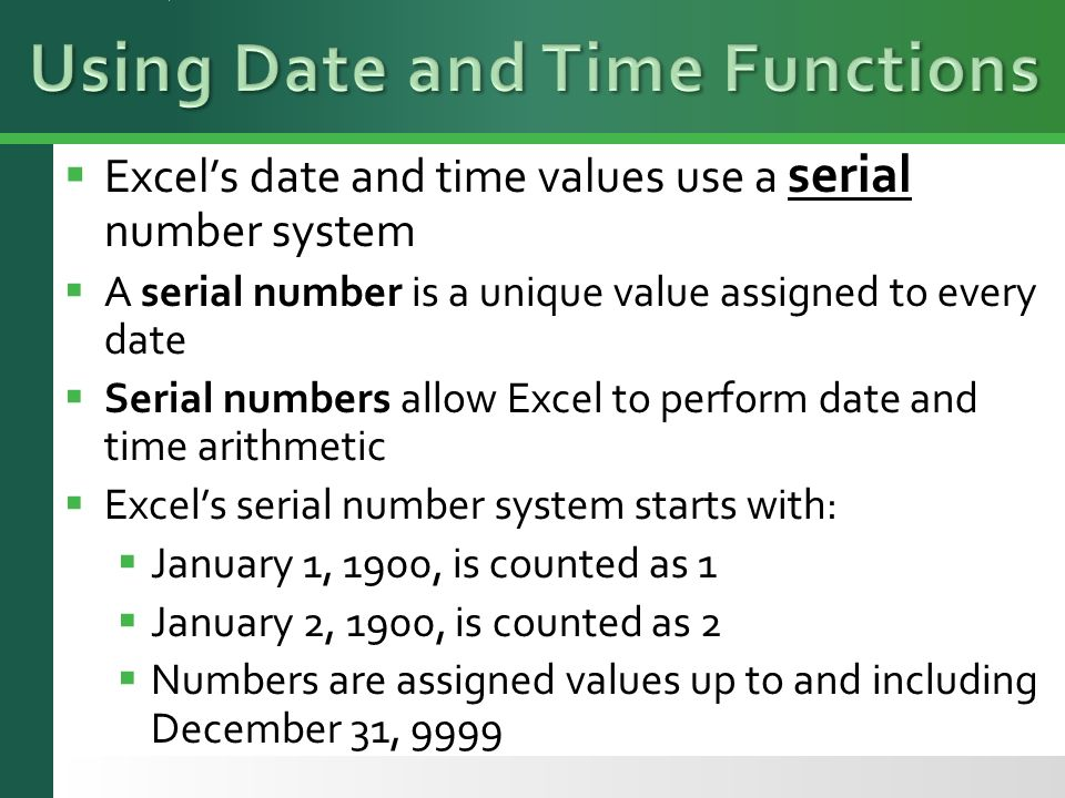 serial number date to time