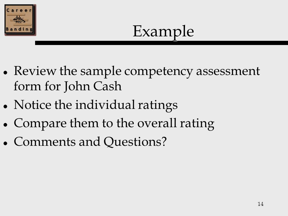 Fiscal Career Banding Competency Assessment Training Ppt Download