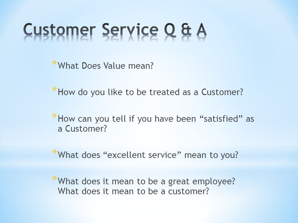what does great customer service mean