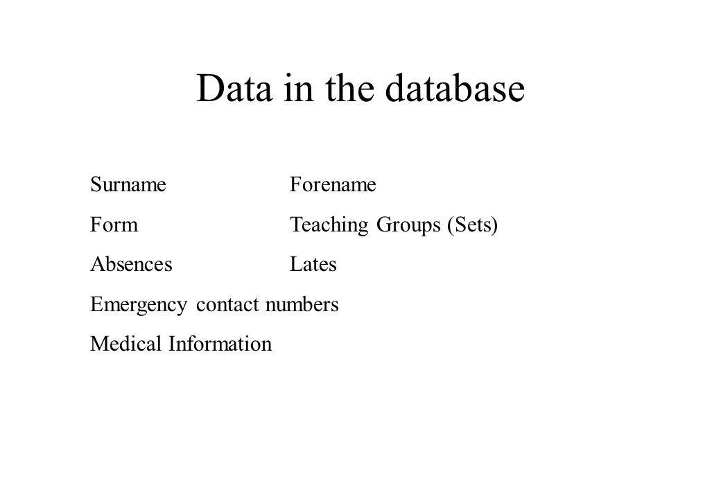 pupil records pupil reports surveys club records database