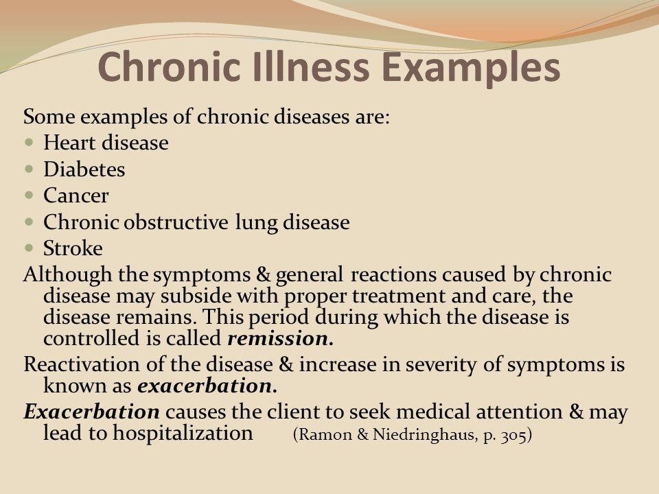 Competency 4 And 5 Chronic Acute Illnesses And Client And