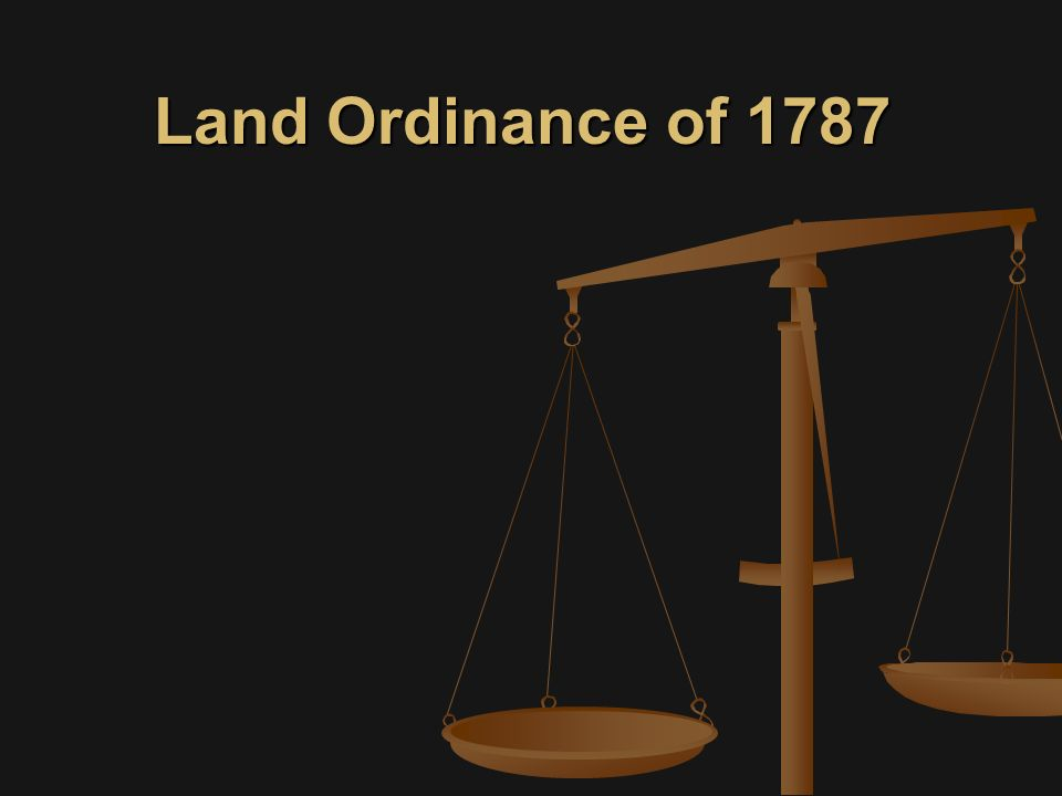 Land Ordinance of 1787