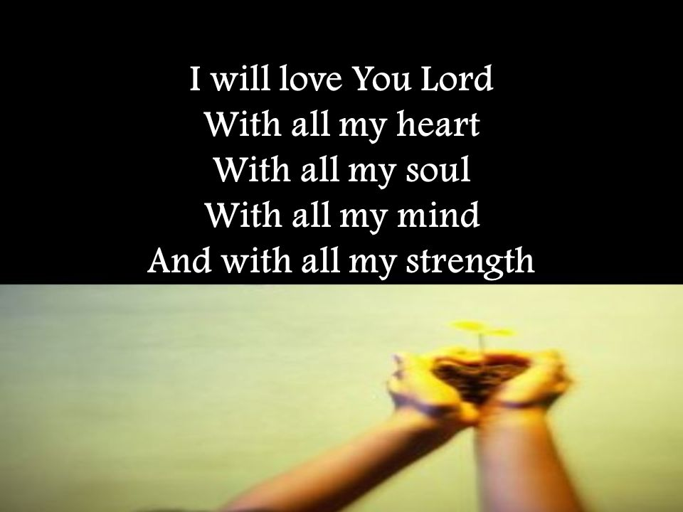 Love The Lord Your God With All Your Heart With All Your Soul With