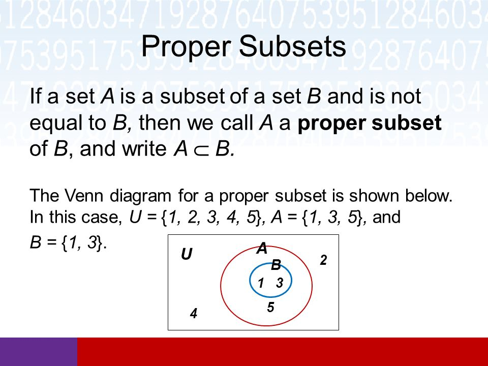 Section 22 Subsets And Set Operations Math In Our World Ppt Download