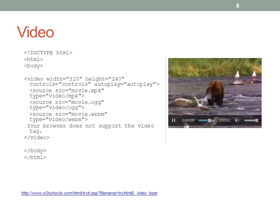CHAPTER 15 HTML 5 VIDEO AND AUDIO Intro to HTML ppt download f28e12cf1