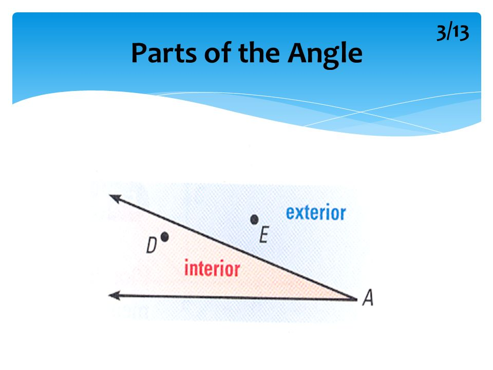 Section 14 Angles Their Measures 113 Parts Of The Angle