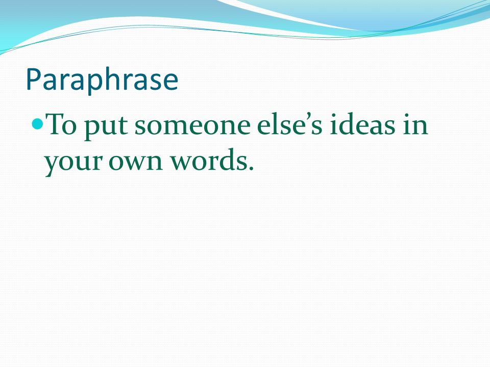 how to paraphrase a quote examples