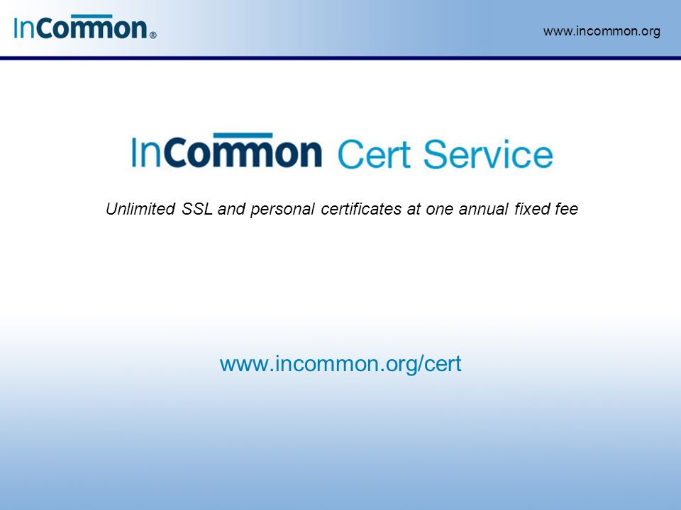 Unlimited Ssl And Personal Certificates At One Annual Fixed Fee