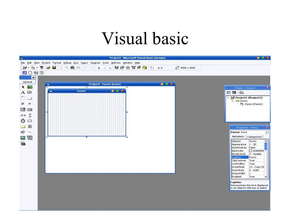 UnitII Visual basic Controls and toolbars  What is visual
