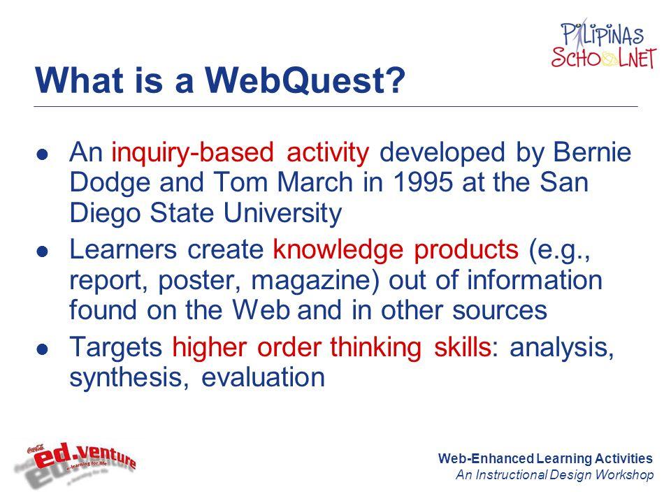 Web Enhanced Learning Activities An Instructional Design Workshop