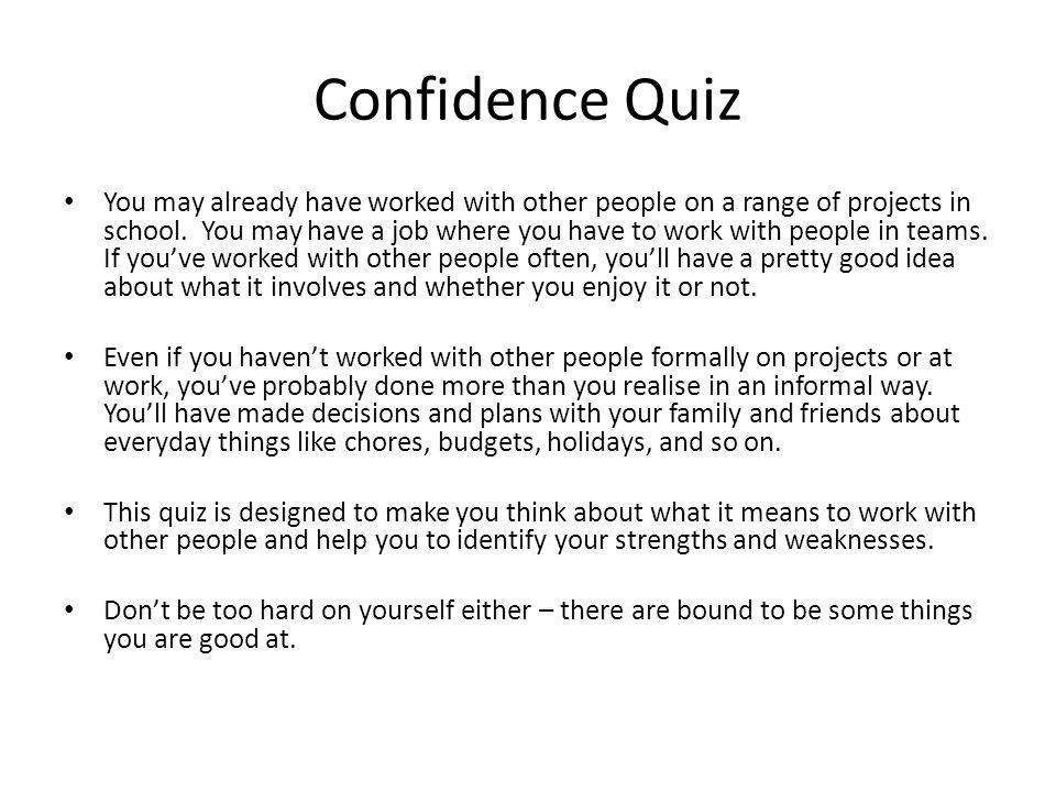 Too hard on myself quiz