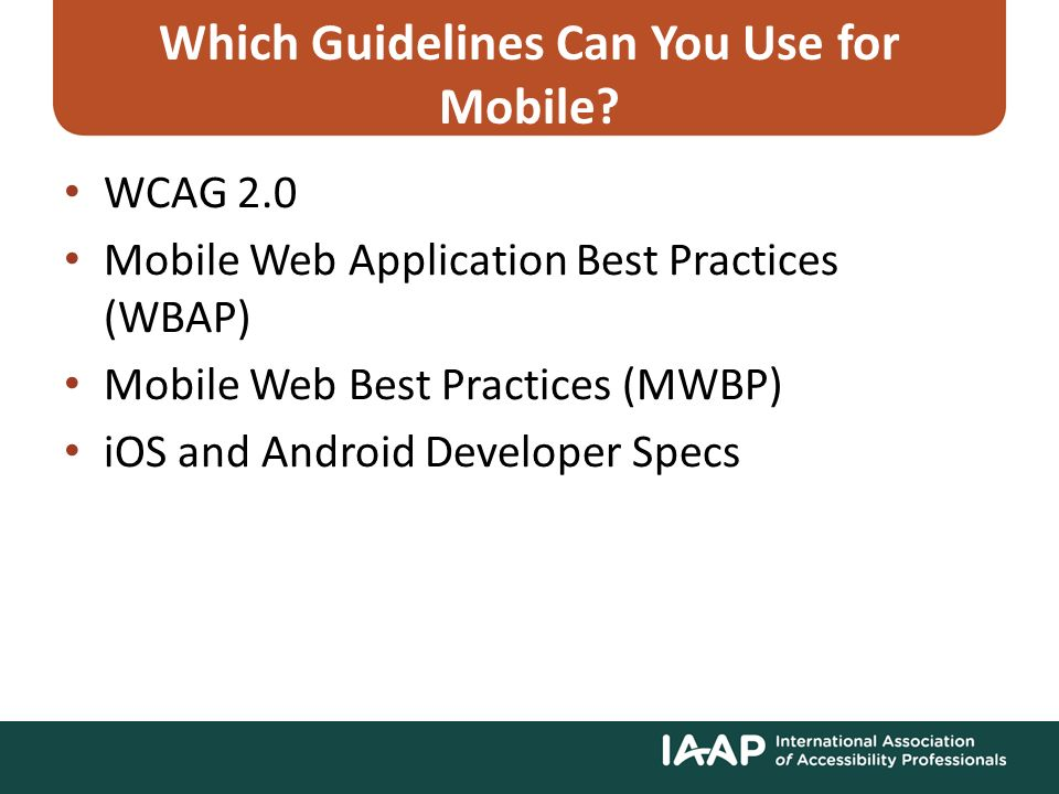 Dive into Mobile Guidelines for Testing Native, Hybrid, and