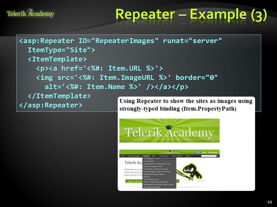 Binding UI Controls to Data Classes in Web Forms Telerik Software