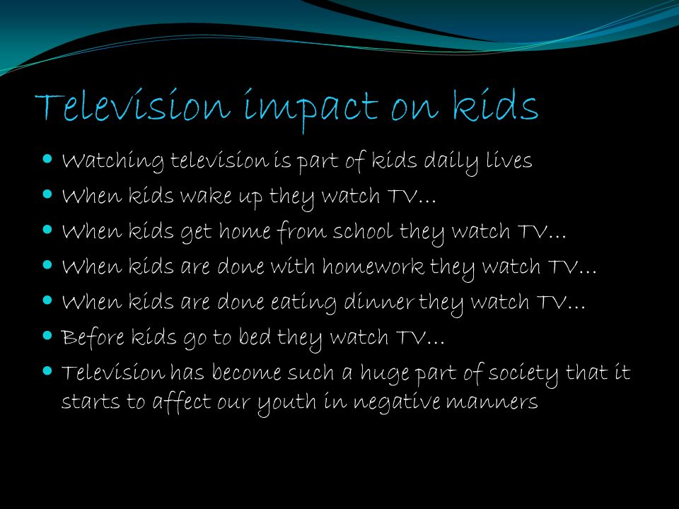 impact of watching television