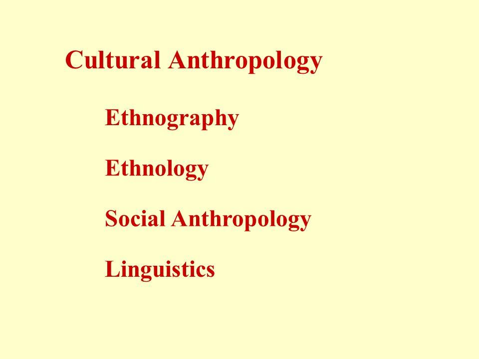 ethnology anthropology