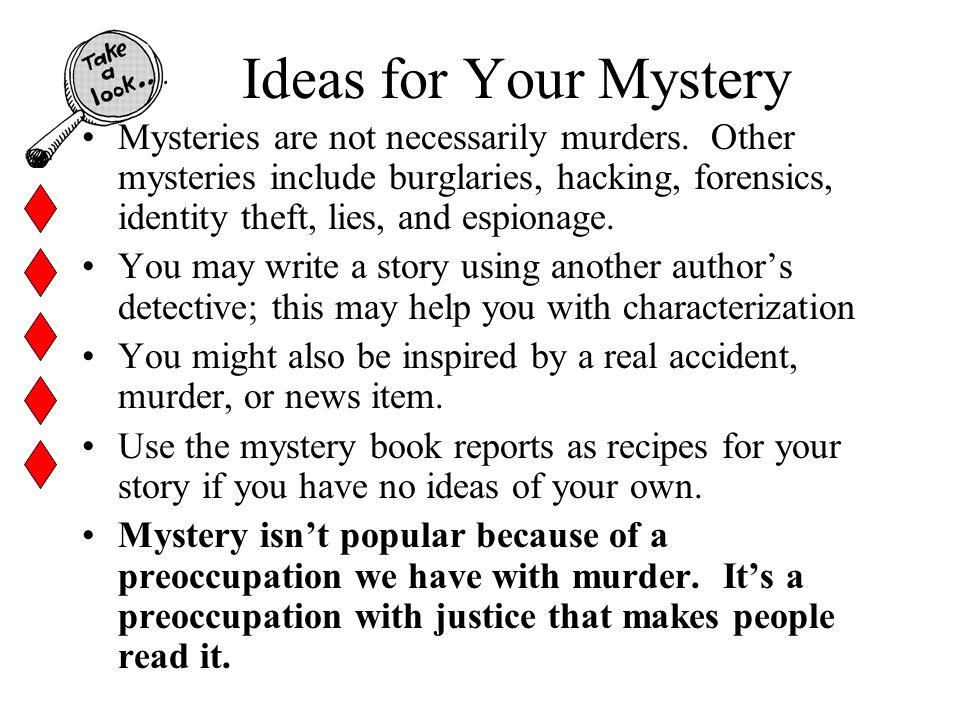 Mystery Writing Unit Short Stories  Unit Goals Content Goals