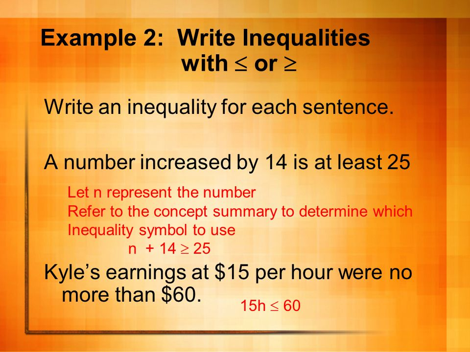 Chapter 7 Lesson 3 Inequalities Pgs What Youll Learn Write