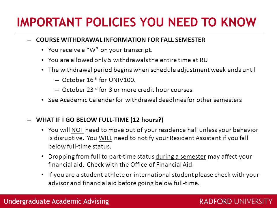 Undergraduate Academic Advising Undergraduate Academic Advising At