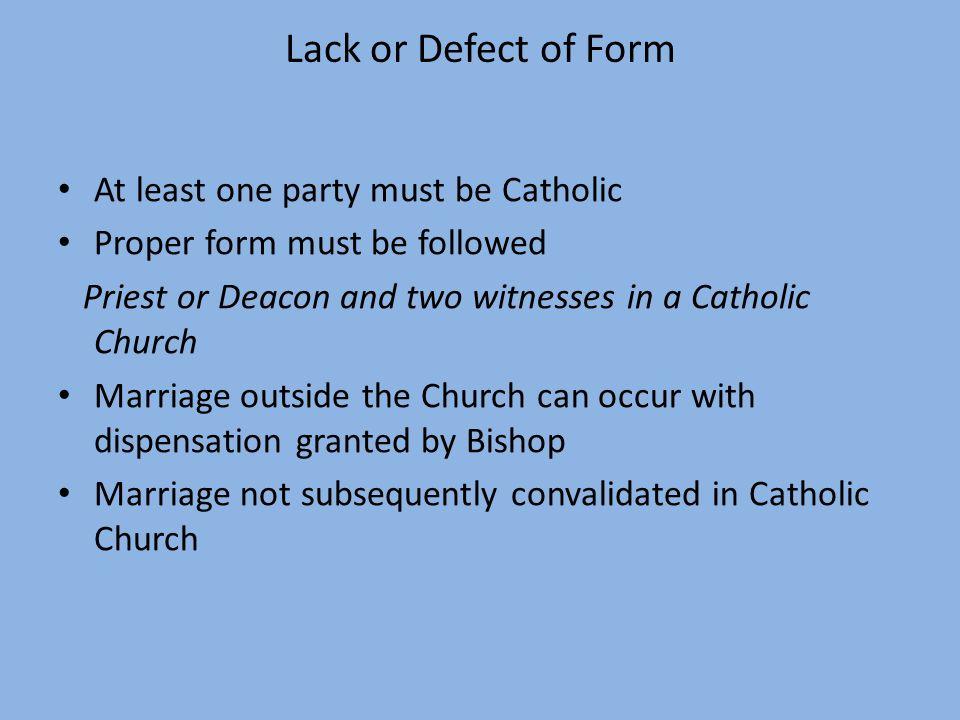 Catholic Dispensation