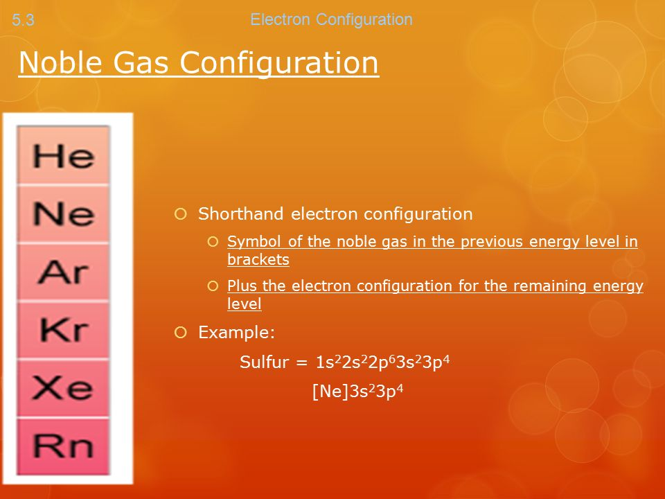 Noble Gas Configuration Noble Gases The Far Right Column Of The