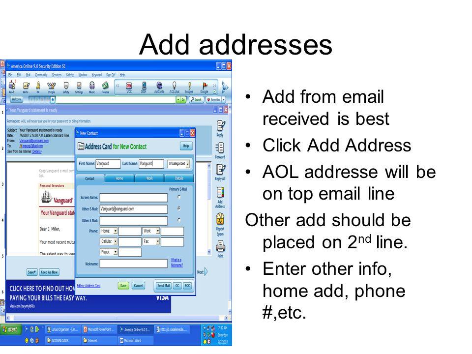aol address book aol 9 0 by maxine miller click mail on menu bar