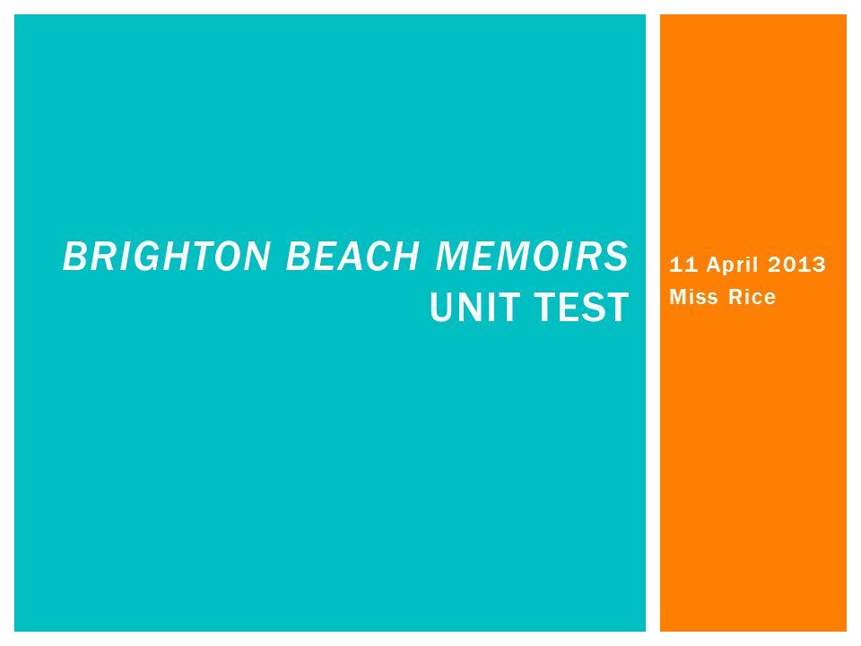 brighton beach memoirs analysis