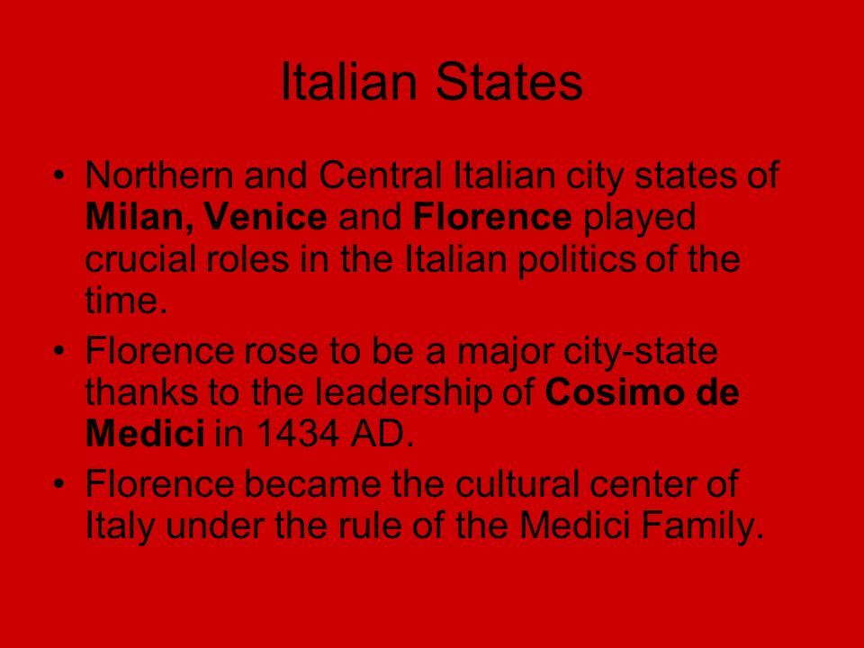 The Renaissance Chapter 5 Section 1  Italian Renaissance Renaissance