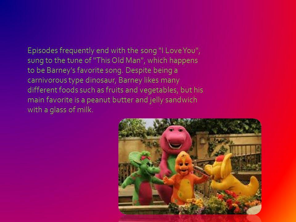 Lirik Lagu I Love You Song Barney — TTCT